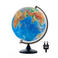 Рельефные и Ландшафтные глобусы ФИЗИЧЕСКИЙ РЕЛЬЕФНЫЙ ГЛОБУС ДИАМЕТРОМ 300 ММ С ПОДСВЕТКОЙ