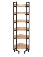 Библиотечная мебель Шкаф-стеллаж угловой односторонний на металлокаркасе
