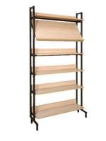 Библиотечная мебель Шкаф-стеллаж комбинированный 1 наклонная и 5 горизонтальных полок