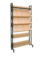 Библиотечная мебель Шкаф-стеллаж комбинированный 3 наклонные и 3 горизонтальные полки