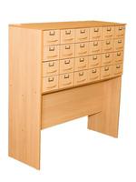Библиотечная мебель Шкаф картотечный. 24 ящика.