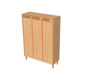 Мебель для гардероба Шкаф детской одежды трехместный