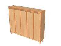 Мебель для гардероба Шкаф детской одежды пятиместный