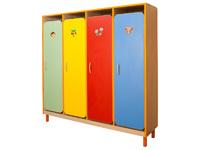 Мебель для гардероба Шкаф детской одежды четырехместный с решеткой