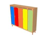 Мебель для гардероба Шкаф детской одежды пятиместный с решеткой