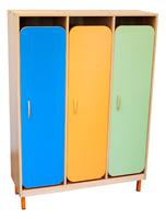 Мебель для гардероба Шкаф детской одежды трехместный с решеткой