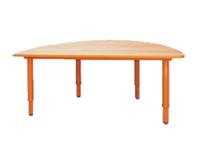 Детские столы Стол игровой полукруглый, регулируемый по высоте (р.гр.№0-3)