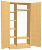 Шкафы Шкаф для одежды двухстворчатый с полками