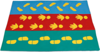 Спортивный инвентарь Мат со следочками (ручки, ножки, башмачки)
