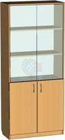 Шкафы и стеллажи Офисный шкаф со стеклом