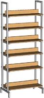 Библиотечная мебель Шкаф-стеллаж двухсторонний на металлокаркасе