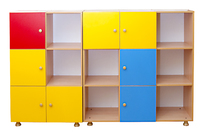 Детские стенки Шкаф-стеллаж «Мозаика»