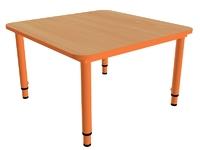 Детские столы Стол детский квадратный, регулируемый по высоте (р.гр.№0-3)