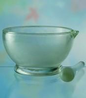 Посуда химическая Ступка стеклянная с пестиком