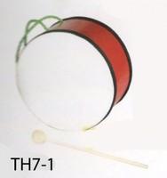 Детские музыкальные инструменты Барабан детский BRAHNER TH7-1 - ДВУХСТОРОННИЙ