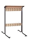 Мебель для гардероба Вешалка напольная двухсторонняя 18 мест
