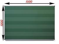 1-элементные Доска школьная магнитно-меловая зеленая ДА-12 Нотный стан